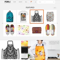 """TODAY IN HOMEPAGE """"Drawing Floral Zentangle G6B"""" Aprons! Visit my FORUdesigns Store! https://www.forudesigns.com/store/1270407 #forudesigns #aprons #drawing #zentangle #abstract #ethnic #tribal #kitchen #cooking #cusine #cook #chef"""