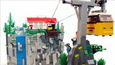 LEGO cable tram (via Brickshelf Gallery -... | ReBrick)