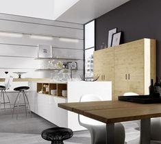 Awesome Bia y lakier drewno zdj cie od Atlas Kuchnie Szczecin home Pinterest Kitchens