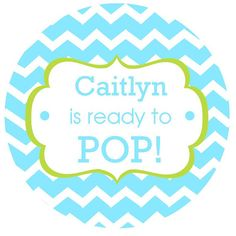 NEW... Personalized Ready to Pop Boy Baby Shower by OhGoodyDesigns, $6.00