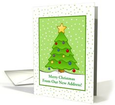 100 SOLD!! Change the cover and inside message to fit your recipient.   http://www.greetingcarduniverse.com/weve-moved-new-address-announcements/holiday-specific/christmas-weve-moved-tree-snow-custom-card-959835?gcu=42124323685