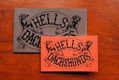 Hells Dachshunds standard size by reidpsaltis on Etsy, $4.00