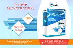 Want to start your own HYIP business? But don't know where to get a start. Have a look at EC HYIP Manager Script.