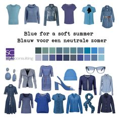 """Blue for a soft summer. Blauw voor de neutrale zomer."" By Margriet Roorda-Faber."