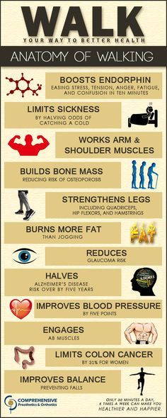 Top 12 Health Benefits of Walking - for every part of the body. See the article from Nutrition Breakthroughs. Power Walking, Running Vs Walking, Walking For Health, Health And Beauty, Health And Wellness, Health Fitness, Health Walk, Health Exercise, Benefits Of Exercise