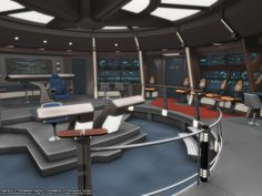 Bridge of a Excelsior-class starship.