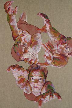So Close (2015)  acrylic on linen canvas, 150 x 100 cm.  by  Cristina Troufa