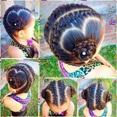 Inspiração para penteados infantis Lil Girl Hairstyles, Princess Hairstyles, Braided Hairstyles, Cool Hairstyles, Little Girl Braids, Braids For Kids, Girls Braids, Kid Braid Styles, Hair Due
