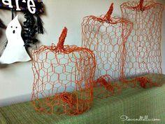 Chicken Wire Pumpkin DIY - StowandTellU