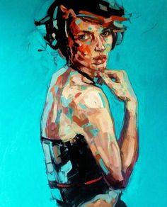 """Saatchi Online Artist: Anna Bocek; Oil 2011 Painting """"Cafe Rose"""":"""