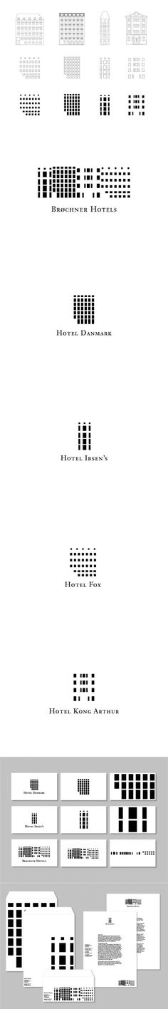 Brøchner Hotels :: Visual identity :: Mia Bjergegaard :: http://www.behance.net/gallery/Broechner-Hotels/4898769