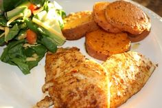 Skinny baked Tilapia #recipe by Chew Love #healthy #food