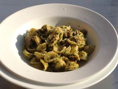 Recipe courtesy of Let's Move!: Orecchiette with Broccoli Rabe Pesto & Sausage