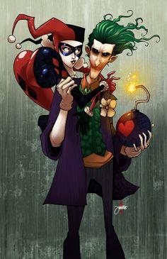 Harley and Joker by *JeremyTreece on deviantART
