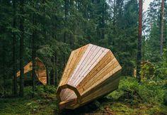 Megafones gigantes amplificam os sons de floresta na Estônia | Psicodelia.org