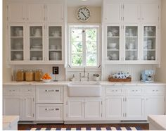 1920 Revival Look. Traditional KitchensGlass Kitchen CabinetsWhite ...