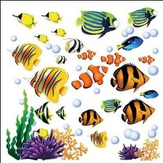 $9.99 Under the Sea Tropical Fish Nursery/Kids Room Wall Art Sticker Decals #decals #tropical #stickers #home #house  http://www.InTheWind.org