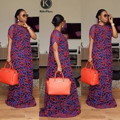 The Tiara Kaftan in a new fabric😘😍 Be Kikswoman, Stand different For all enquiries and to place an order kindly Dm or WhatsApp African Maxi Dresses, African Fashion Ankara, Latest African Fashion Dresses, African Print Fashion, African Attire, African Wear, African Lace, African Outfits, Ankara Gown Styles