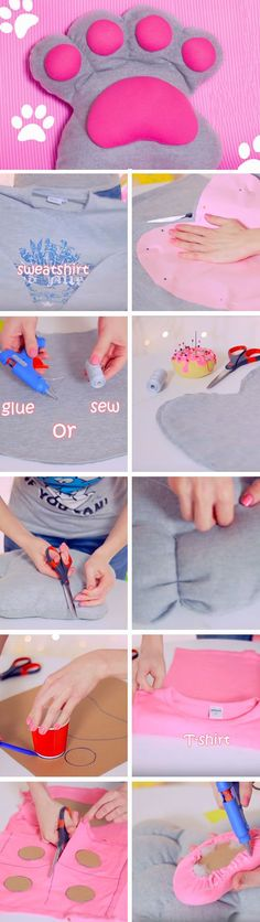 Paw Shaped Pillowr   35 + DIY Christmas Gifts for Teen Girls   Easy Summer Crafts for Teens to Make