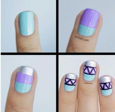 Nail Art Tutorial hate the colors but like the design.