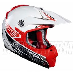 2013 Lazer Smx Motocross Helmets - Mx8 Carbon Tech Red White - 2013 Lazer Motocross Helmets - 2013 Motocross Gear - by Lazer