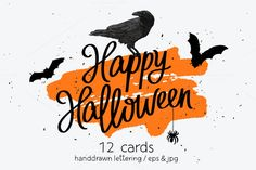 Happy Halloween Cards by chekart on @creativemarket