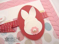 SAB Vine Street Embossing Folder Easter Bunny Card