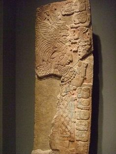 Wall panel depicting lady Bolon-K'an in ritual dress Mexico southern Maya lowlands Tabasco Pomona Late Classic period 790 CD Limestone and stucco (1) by mharrsch, via Flickr