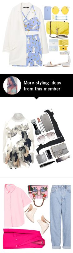 """""""""""Homie"""" ft Meek Mill"""" by tamaramanhardt on Polyvore featuring MANGO, Laura Ashley, Gianvito Rossi, Yves Saint Laurent, Uniqlo, LMNT, Moschino and vintage"""