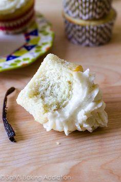 Very Vanilla Cupcakes - an easy homemade vanilla cupcake recipe. My favorite! by sallysbakingaddiction.com