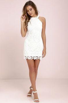 Love Poem Ivory Lace Dress at Lulus.com! #graduationdresses