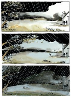 Slow Storm graphic novel page 5. $50.00, via Etsy.