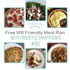 WW FreeStyle Meal Plan #50 - Meal Planning Mommies Weight Watchers Meal Plans, Weight Watchers Diet, One Week Meal Plan, Meals For The Week, Ww Recipes, Slow Cooker Recipes, Healthy Recipes, How To Make Salad, Food To Make