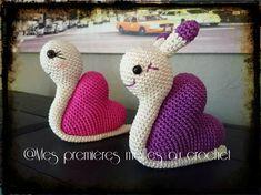 Adorables escargots - Mes premières mailles au crochet