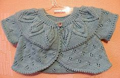 Bolero cu model frunze in English for a yellow one i liked..free pattern