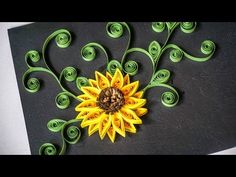 Quilling Flowers tutorial - Quilling Sunflower - Paper Sunflower - Creative Paper - YouTube