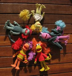 Fraggle Rock characters - she says patterns soon!