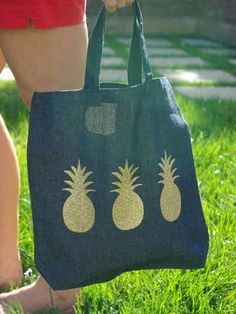 Oleander and Palm: Pineapple Tote Bag