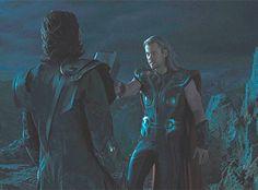 "Thor: ""You listen well, brother."" *Iron Man takes Thor* Loki:""I'm listening."" My favorite scene. The sass. Loki Thor, Marvel Comic Universe, Loki Laufeyson, Tom Hiddleston Loki, Marvel Cinematic Universe, Marvel Avengers, Loki Gif, The Avengers, Asgard"