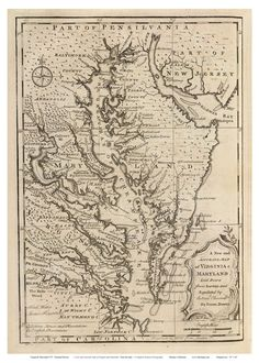 Chesapeake House, Delaware Bay, Early Modern Period, Canon Ink, Bond Paper, Map Of New York, Coastal Homes, Maryland, Virginia