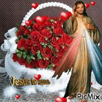 See the PicMix JESUS belonging to giurgead on PicMix. Pictures Of Jesus Christ, Religious Pictures, Religious Quotes, Beautiful Love Pictures, Beautiful Gif, Jesus Is My Friend, Image Jesus, Merry Christmas Gif, Good Night Gif