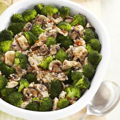 This broccoli and chicken bake is definitely the best we've seen broccoli look. A fall must-have dish.