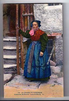 Carte postale ancienne | Costumes de Savoie -  Lans le bourg