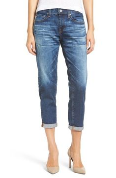AG 'Ex-Boyfriend' Crop Slim Jeans (10 Year Wick) available at #Nordstrom