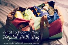 What Would Goldilocks Say About Your Hospital Birth Bag? | Modern Alternative Pregnancy