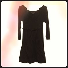 Marc by Marc Jacobs Casual Black Dress Cute black mini dress with sweatshirt- style details. Cotton. I fixed a loose bottom hem, which you can't see. Great, worn condition. Marc by Marc Jacobs Dresses Mini