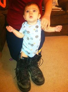 Big shoes to fill – so doing this with Eddy's shoes!!! Or mine if the baby's a girl.  :)  #BabyCenterBlog