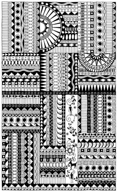 zentangle inspired art | Miriam Badyrka is The Doodler: September 2011