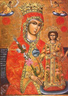 Virgin Mary with Jesus Christ. 1790. Great Meteoron monastery, Kalambaka, Greece.