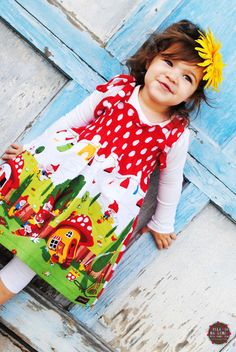 The Gnome Smocked Dress Gnomeo and Juliet by lakenandlila on Etsy, $42.50